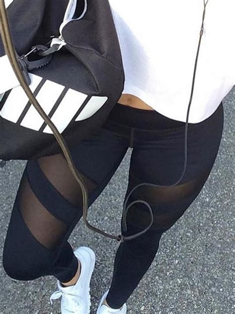 stylish black high waist stretchy see through discover trend fashion at