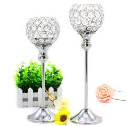 Candlestick Holder Centerpieces Candle Holder Metal Silver Candlestick Lantern