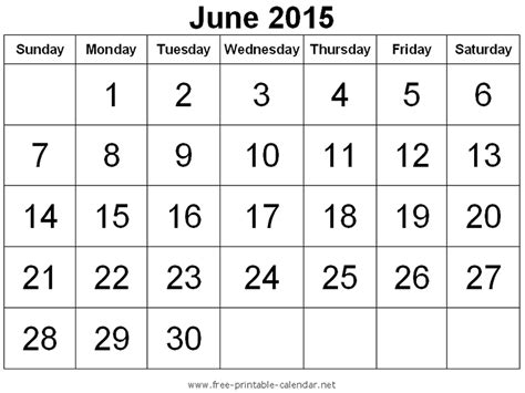 printable schedule june 2015 2015 june calendars holidays and observances
