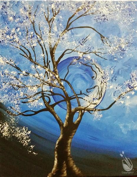 paint with a twist olive branch ms harvest moon 2 blue friday january 6 2017 painting