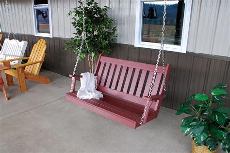 amish woodwork item 860 4 trad porch swing cherry wood jpg