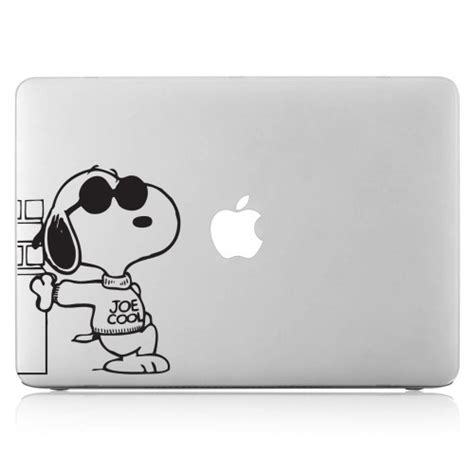 Vinyl Aufkleber Macbook by Snoopy With Sunglasses Laptop Macbook Vinyl Decal Sticker