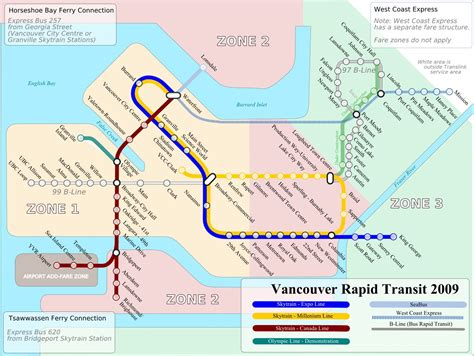 vancouver transit maps