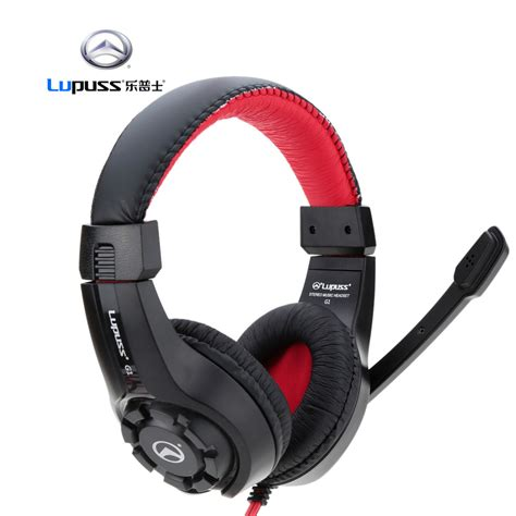 Headset Mic Gaming Lupuss Adjustable 3 5mm Esport Headphone Gaming Headphones Headset Low Bass Stereo With Mic