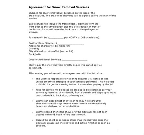 19 Snow Plowing Contract Templates Doc Pdf Free Premium Templates Snow Removal Contract Template