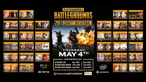 pubg 5 player squad pubg playerunknown s battlegrounds charity invitational