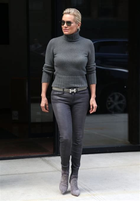 yolanda hadid turtleneck fashion lookbook stylebistro