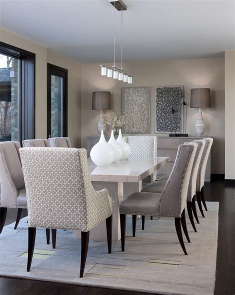 The Houzz Dining Room Orchard Lake Residence Contemporary Dining Room