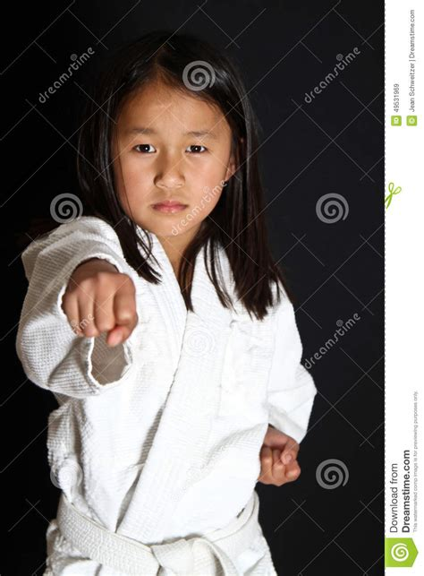 karate kid chinese girl karate kid stock photo image 49531969