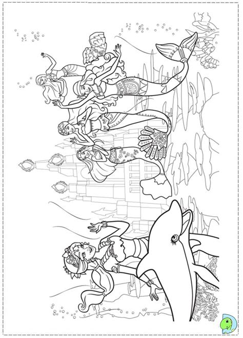 Barbie In A Mermaid Tale Coloring Page Dinokids Org In A Mermaid Tale Coloring Pages