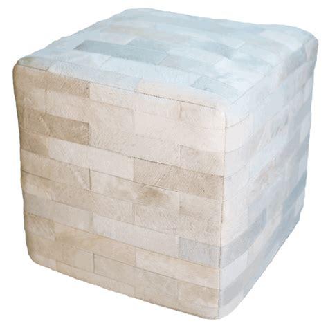 white cube ottoman cowhide cube ottoman white