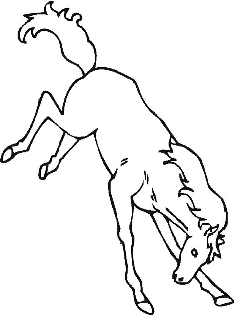Coloring Pages Of Bucking Horses | bucking horse coloring pages