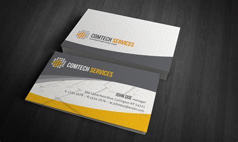 Business Card Sles Templates computer laptop business card template 187 free