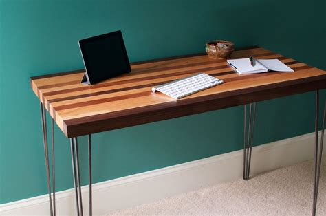 Buy Hand Crafted Mid Century Modern Desk Featuring A Maple Modern Desk Legs