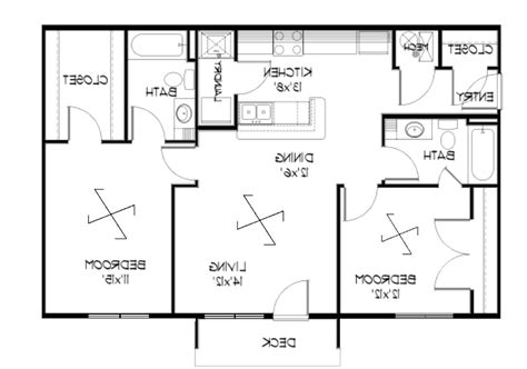 One Story Floor Plans With Two Master Suites One Story Home Plans With Two Master Suites