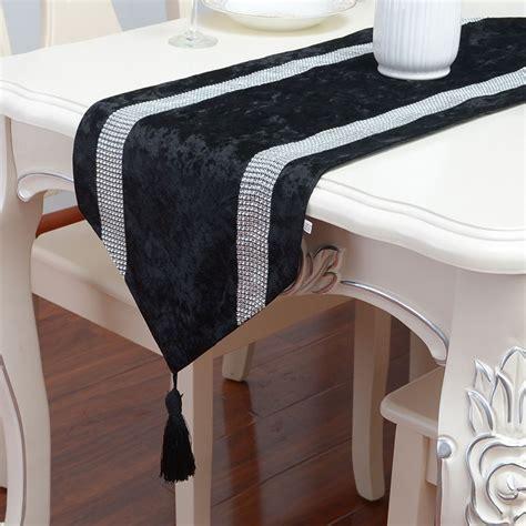 black velvet table runner european luxurious black gift table runner