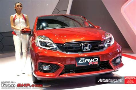 honda brio indonesia indonesia honda brio facelift unveiled team bhp
