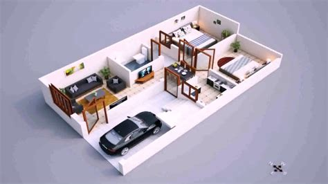 home design plans for 600 sq ft 3d house plan design 600 sq feet youtube