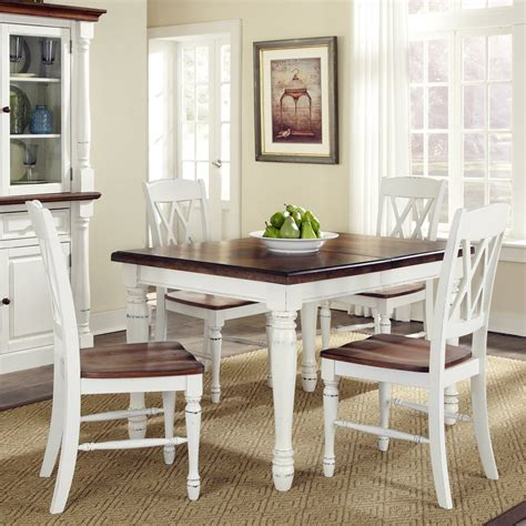 Oak And White Kitchen Table Shop Home Styles Monarch White Oak 5 Dining Set With Dining Table At Lowes