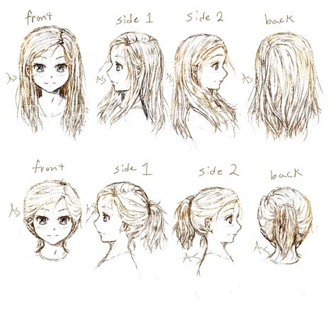 Manga Hairstyle Short Long Front Sides | hair challenge 2013 manga art improvement by amikamangaka