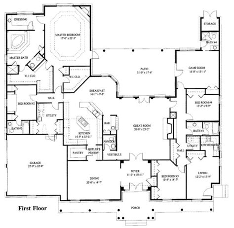 house plans with 2 bedroom inlaw suite make 3 car garage turn dining room into study delete