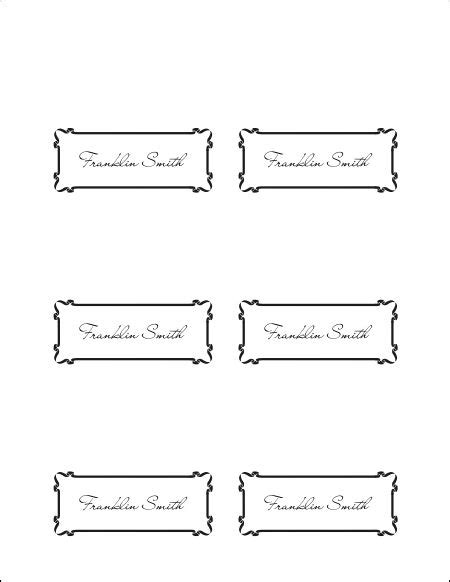 Templates For Place Cards Microsoft Word by 10 Best Images Of Place Card Template Word Printable
