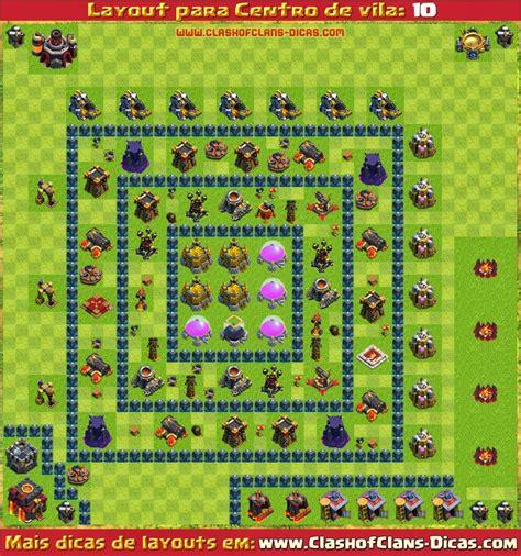 layout quadrado cv 9 layouts de centro de vila 10 para clash of clans clash