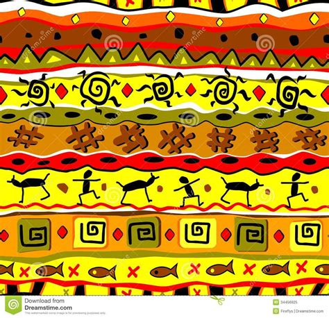 seamless tribal pattern vector free seamless tribal pattern royalty free stock photo image