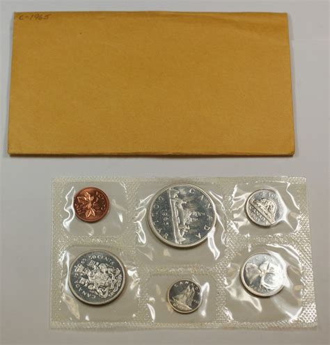 Set Mint 1965 canada mint set proof like uncirculated coin set w