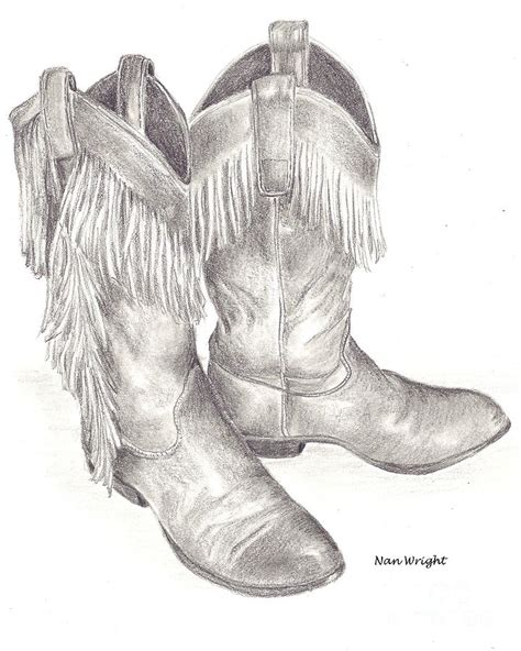 my boots drawing by nan wright