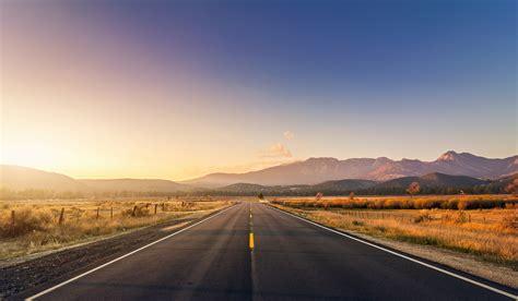 wallpaper 4k road wallpaper road mountains sunset 4k world 5058
