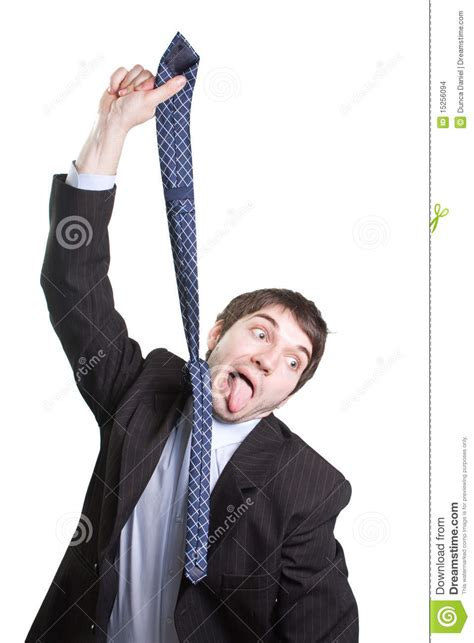 Hanging With by Depressed Businessman Hanging From A Tie Stock