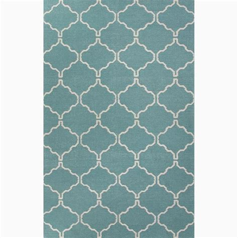overstock rugs 8x10 handmade moroccan pattern blue ivory wool area rug 8x10