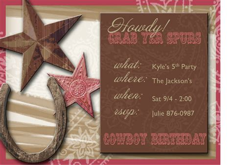 western party invitations party invitations templates