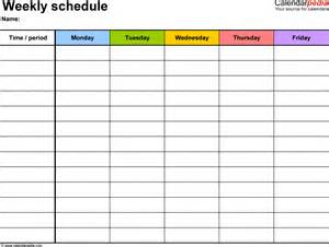 paper schedule templates print paper templates