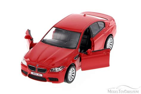 news diecast toys die cast model cars collectible bmw m5 red showcasts 555004m 1 36 scale collectible