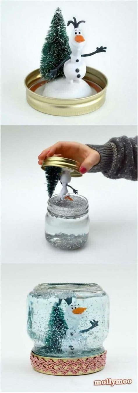 diy decorations snow globe 40 diy jar ideas tutorials for