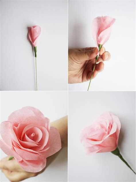 Easy Steps To Make A Paper Flower - how to make easy paper flowers at home flowers ideas