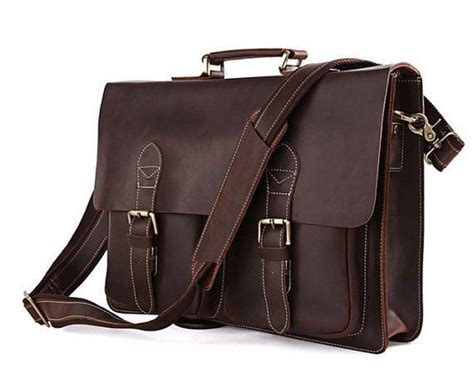 Handcrafted Leather Briefcase - handcrafted leather briefcase messenger bag laptop bag