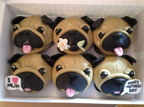 pug cake decorations pug cupcakes foods
