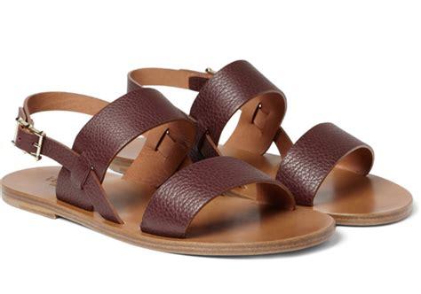 designer sandals mens designer leather sandals for images