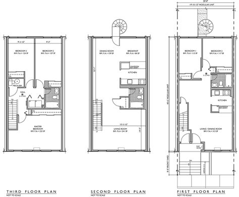 nehemiah spring creek floor plans the endlessly adaptable row house urban omnibus