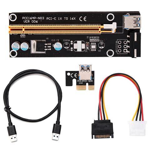 Pci Riser For Mining pci e riser card 1x to 16x usb 3 0 ver 007s 008s 009s