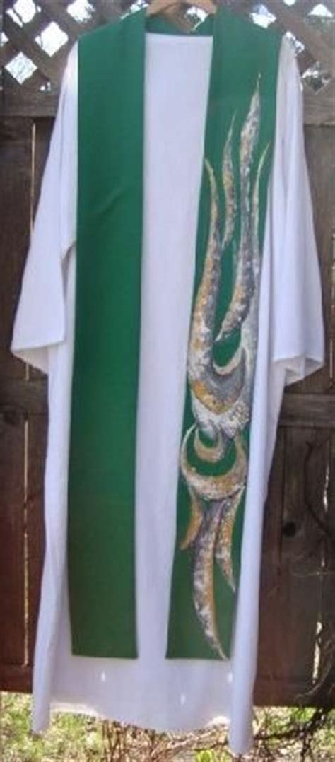 Handmade Stoles - spirit clergy robei this in green and it is