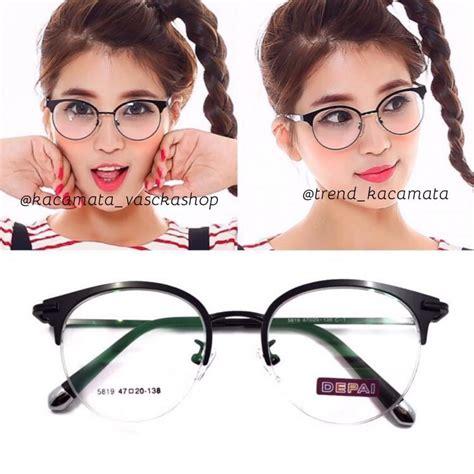 Kacamata Hits Murah Sunglasses Korea Style Wanita Gentle kacamata depai clear black