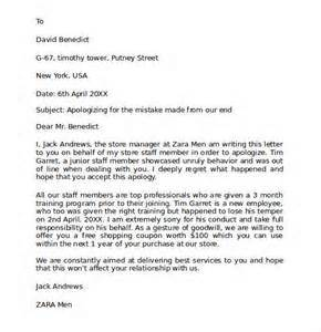 apology letter to client sle letter of recommendation