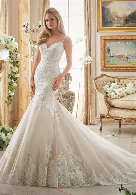 Lace Style Wedding Dresses by Alencon Lace Bridal Dress Style 2871 Morilee