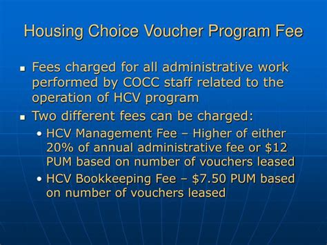 housing choice voucher program ppt section 3 the central office cost center powerpoint presentation id 4614480