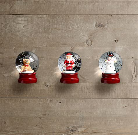 mini snow globes set