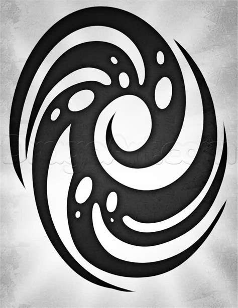 black ink spiral tribal tattoo stencil golfian com
